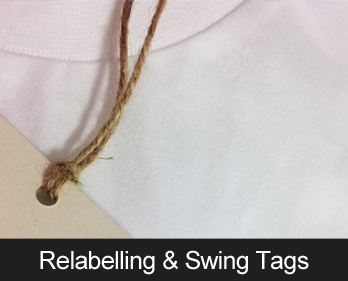 Relabelling and Swing Tags - for the finishing touches