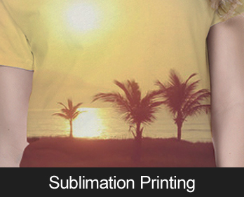 Sublimation Printing - for all over designs of large quanities