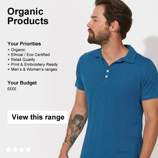 Wholesale Organic Clothing, by Stanley & Stella