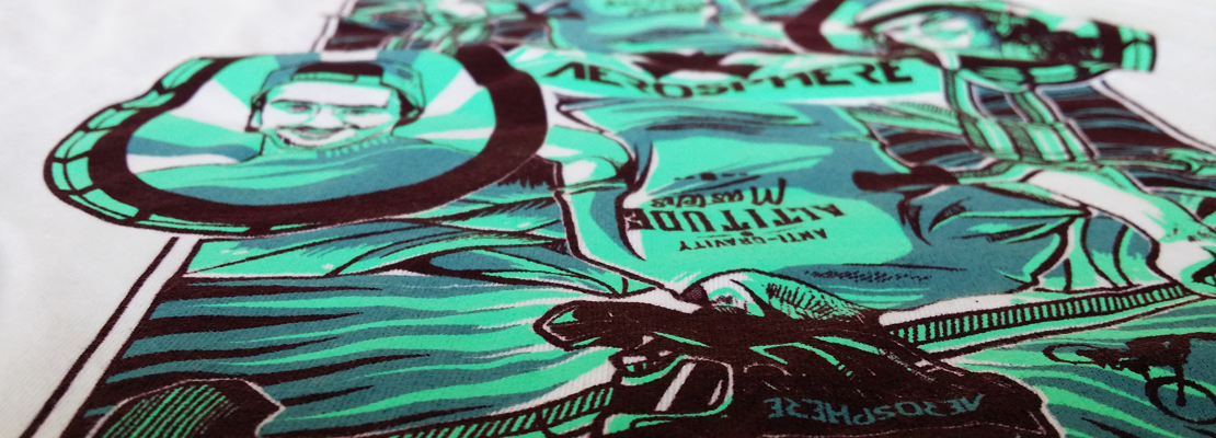 vibrant high quality screen printed t shirt used by a retail fashion brand